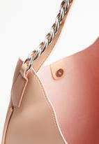 STYLE REPUBLIC - Metal chain shoulder bag - pink