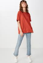 Cotton On - The relaxed boyfriend tee - red