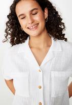 Cotton On - Erika short sleeve shirt - white