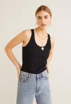 MANGO - Essential tank top - black