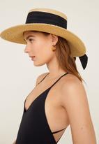 MANGO - Crossover back swimsuit - black