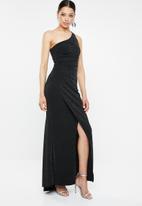 Sissy Boy - Highlight asymmetric glam gown - black