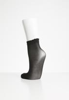 Pieces - Nikoline ankle sock - black