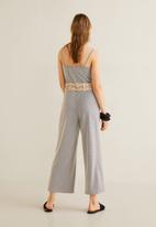 MANGO - Jumpsuit - navy & white