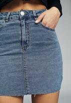 Cotton On - Classic stretch denim mini skirt - blue