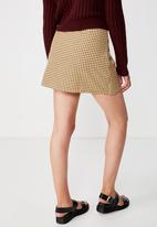 Cotton On - Woven millie houndstooth skirt - yellow