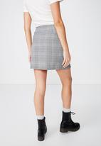 Cotton On - Woven millie houndstooth skirt - black