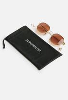 Superbalist - Octagon sunglasses - gold & brown
