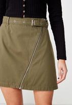 Cotton On - Woven Tyler utility skirt - khaki