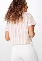 Cotton On - Erika short sleeve shirt - pink
