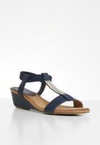 Butterfly Feet - Faye wedge - navy
