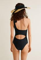 MANGO - Asymmetric swimsuit - black