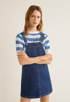 MANGO - Pinafore dress - blue