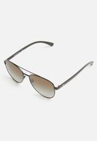 Emporio Armani - Aviator sunglasses - matte black