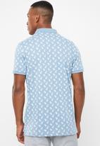 Brave Soul - Radial short sleeve polo - blue & white