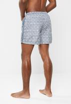 Brave Soul - Dorset side tape check swim shorts - multi