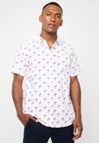 Brave Soul - Chester short sleeve shirt - white