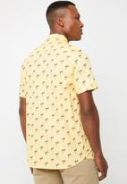 Brave Soul - Chester short sleeve shirt - yellow