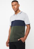 Brave Soul - Kirk short sleeve golfer - multi