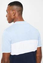 Brave Soul - Kirk short sleeve golfer - Blues/Wht