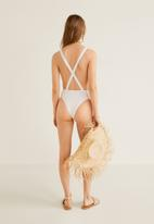 MANGO - Full piece swimsuit - white