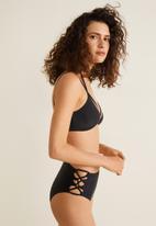 MANGO - Bikini bottoms with criss cross detail - black