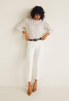 MANGO - Decorative seam leggings - white