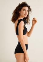 MANGO - High-waist bikini bottom - black