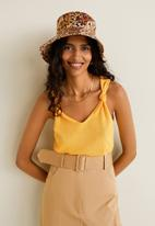 MANGO - Knotted knitted top - yellow