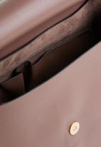 STYLE REPUBLIC - Leather-look shoulder bag - purple