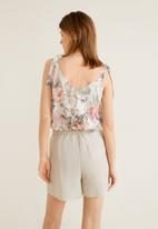 MANGO - Buttoned top with bow detail - multi