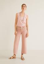 MANGO - Organic cotton basic top - pink