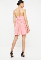 Missguided - Bandage strappy mini dress - pink