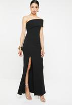 Missguided - One shoulder maxi dress - black