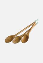 Jamie Oliver - Wooden spoons set of 3 - brown
