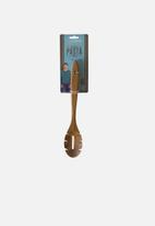 Jamie Oliver - Acacia wood pasta spoon - brown