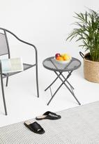 Sixth Floor - Mesh outdoor table - dark grey