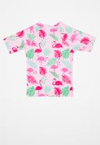 POP CANDY - Rash flamingo print vest - pink