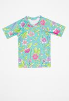 POP CANDY - Rash floral print vest - turquoise