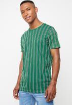Brave Soul - Cript short sleeve stripe tee - green