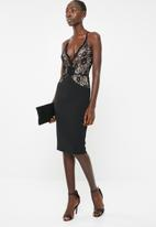 Sissy Boy - Quartz: mixed lace midi dress - black