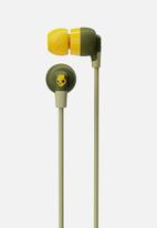 Skullcandy - Ink'd+Wireless Earphones - Olive Moss