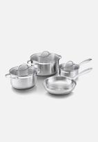 Brabantia - Amsterdam cookware set 7pc + free glove - silver