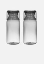 Brabantia - Large storage jar with measuring cup set of 2
