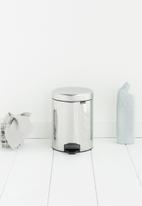 Brabantia - 5 L Pedal bin newicon - brilliant steel