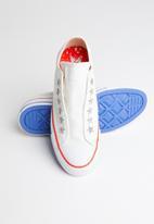 Converse - All Star Teen Slip Starware - vintage white/habanero red/blue