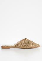 ALDO - Faux leather pointed mule - black & beige
