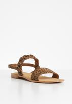 Vero Moda - Amrita leather sandal - brown & black