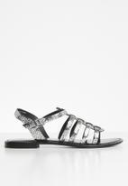Vero Moda - Leather gladiator sandal - silver
