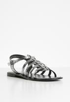 Vero Moda - Rie leather sandal - silver